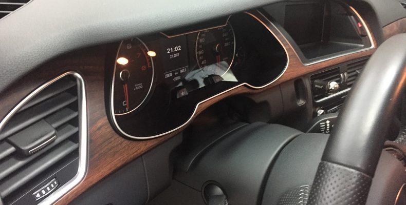 Audi A4 2015 аквапринт салона под матовое дерево