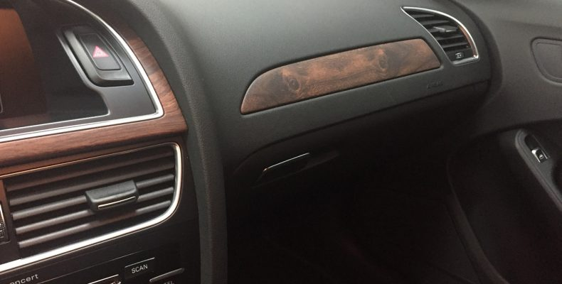 Audi A4 2015 аквапринт салона под матовое дерево (3)