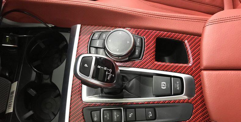 аквапечать красный карбон для салона BMW X6