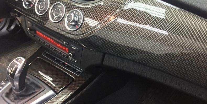 золотой карбон принт BMW Z4