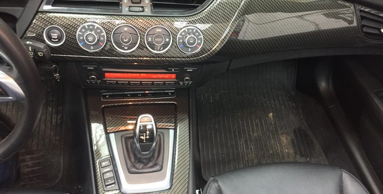 аквапринт салона BMW Z4 под карбон