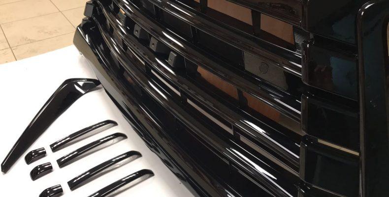 LEXUS LX570 аквапринт решекти под черный глянец (2)