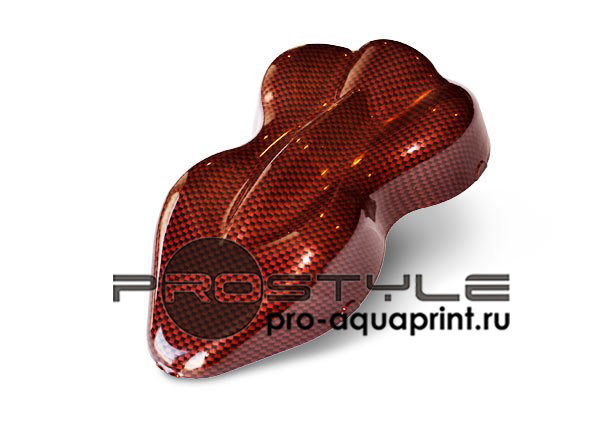 текстура аквапринта красный карбон